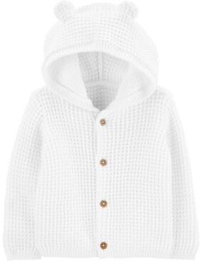 Carter's Baby Boys or Girls Hooded Cotton Cardigan Sweater