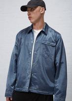 Our Legacy indigo nylon cowboy coach jacket