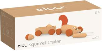 Elou Cork Squirrel Trailer Toy
