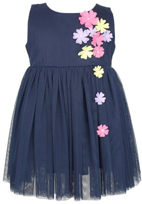 Popatu Flower Applique Tulle Dress