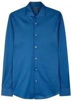 Pal Zileri Blue Cotton Jersey Shirt