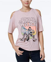Star Wars The Last Jedi Juniors' Cold-Shoulder Graphic T-Shirt