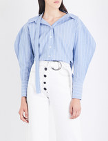 REJINA PYO Rosa striped cotton and linen-blend shirt
