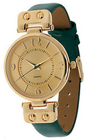 Gossip As Is Hinged Goldtone Leather Strap Watch