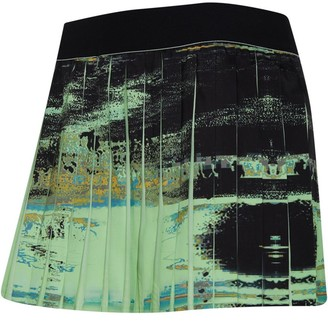 adidas Womens New York Tennis Skirt Glow Green/Black
