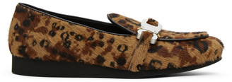 Alyx Brown and Black Leopard St. Marks Loafers