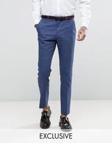 Heart & Dagger Slim Wedding Suit Pants In Linen Mix