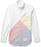 Thom Browne - Slim-fit Button-down Collar Patchwork Cotton Oxford Shirt