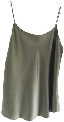 Vince Khaki Silk Top for Women