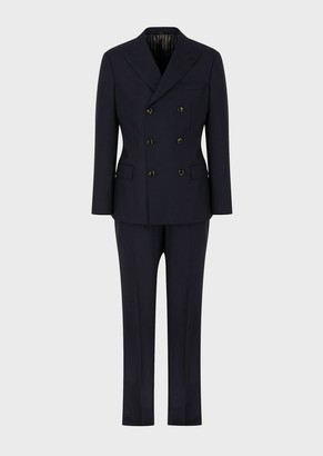 Giorgio Armani Madison Line Full-Canvas Double-Breasted Suit In Ultralight Cashmere