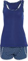Catherine Malandrino Blue Racerback Tank & Shorts Pajama Set