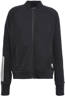 adidas Printed French Cotton-blend Terry Track Jacket