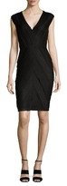 Bailey 44 Textured V Neck Sheath Dress