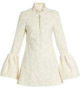 Marques Almeida MARQUES'ALMEIDA Floral-brocade bell-cuff mini dress