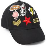 Steve Madden Black Seven-Patch Washed Baseball Cap