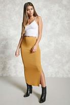 Forever 21 FOREVER 21+ Bodycon Slit Maxi Skirt
