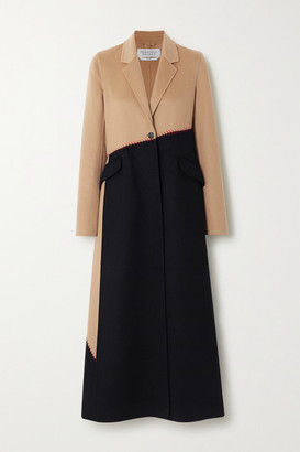 Gabriela Hearst Hamill Whipstitched Two-tone Cashmere Coat - Camel