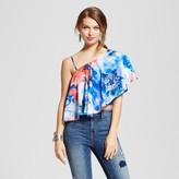 XOXO Women's Printed One Shoulder Crop Top Juniors') Multicolor