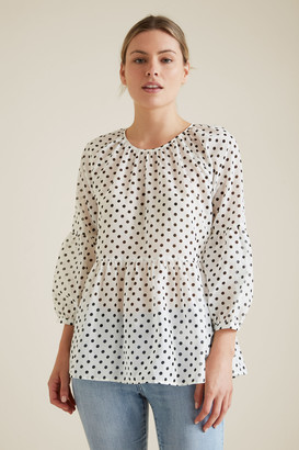 Seed Heritage Spot Blouse
