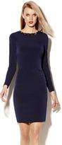 Vince Camuto Long Sleeve Embellished Dress