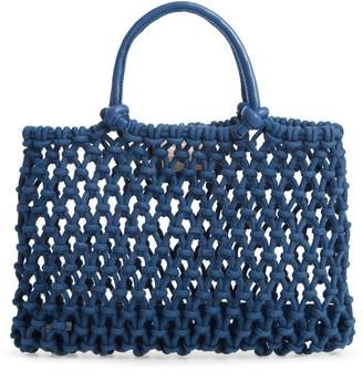Clare Vivier Petite Sandy Woven Net Handbag