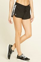Forever 21 FOREVER 21+ Active Striped Mesh Shorts
