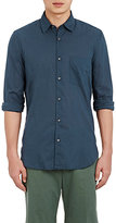 Aspesi MEN'S SOLID VOILE SHIRT-BLUE SIZE XXL