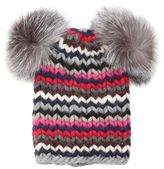 Eugenia Kim Mimi Wool Tricot Hat With Pompoms