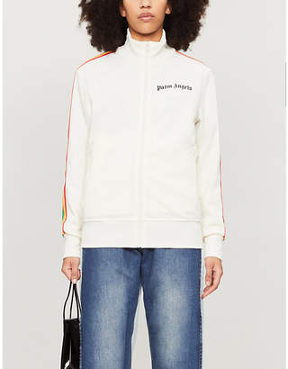 Palm Angels Rainbow side-stripe jersey track jacket