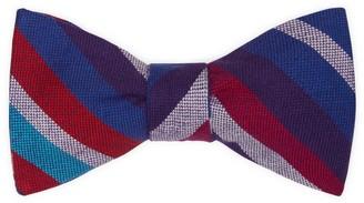 Koy Clothing Purple Striped Self-Tie Bow Tie Kamba