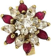 One Kings Lane Vintage 14k Gold Gemstone Spinner Ring