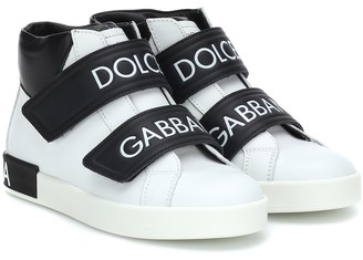 Dolce & Gabbana Kids Leather high-top sneakers