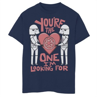 Star Wars Boys 8-20 Valentines The One I'm Looking For Tee