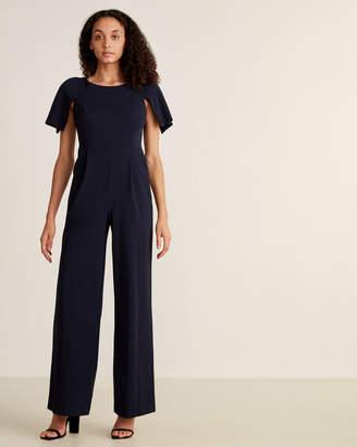 Calvin Klein Indigo Split Sleeve Jumpsuit