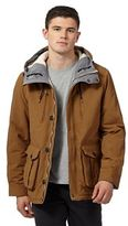 Red Herring Dark Tan Quilted And Fleece Lined Hiking Jacket
