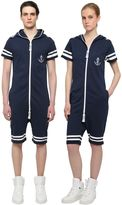 One Piece Naval French Terry Cotton Jumpsuit