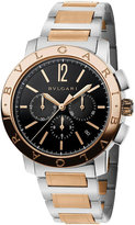 Bvlgari Velocissimo 18ct pink-gold and stainless steel watch
