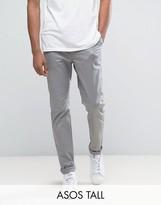 Asos Tall Slim Chinos In Warm Grey