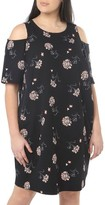 Dorothy Perkins Plus Size Women's Floral Cold Shoulder Shift Dress