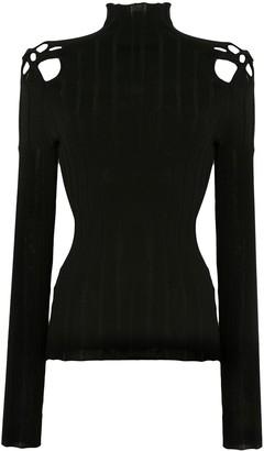 Dion Lee Long Sleeve Braided Detail Sweatshirt
