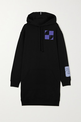 McQ Oversized Printed Cotton-jersey Hoodie - Black