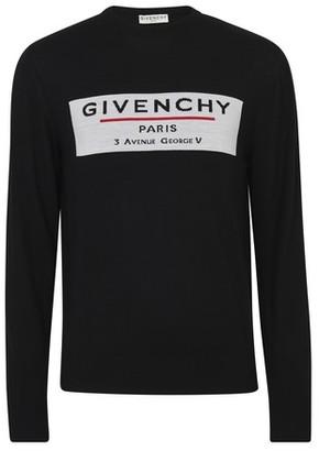 Givenchy Address logo wool crew knitwear