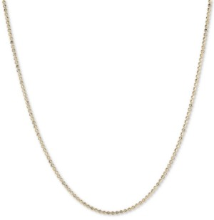 """Italian Gold Moon Link 18"""" Chain Necklace in 14k Gold"""