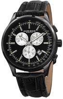 Akribos XXIV Men's Quartz Chronograph Croc-Embossed Watch