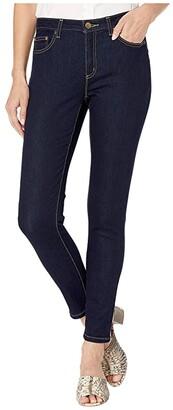 MICHAEL Michael Kors Super Stretch High-Waist Denim (Dark Rinse Wash) Women's Jeans