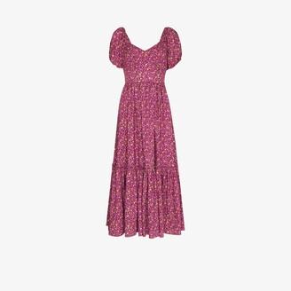 LoveShackFancy Angie Floral Print Maxi Dress
