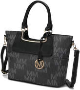 Mkf Collection By Mia K. MKF Collection by Mia K. Women's Handbags - Dark Gray & Black Signature Dia Satchel