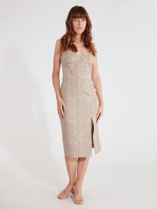 Finders Keepers Olivia Front Slit Midi Dress