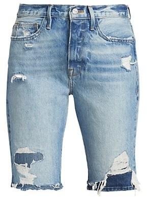 Frame Le Beau Denim Bermuda Shorts