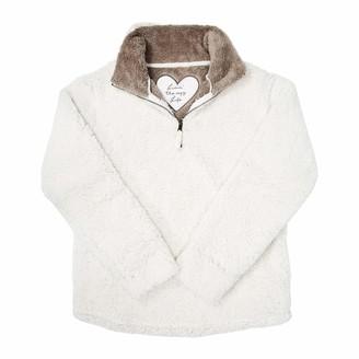 Pavilion Gift Company Pavilion - Livin' The Cozy Life - Small Women's Warm Cozy Sherpa House Sweatshirt Cream